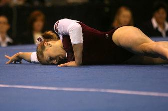Chloe Gilliland, then Chloe Sims, at the 2007 Australian Gymnastics Championships.
