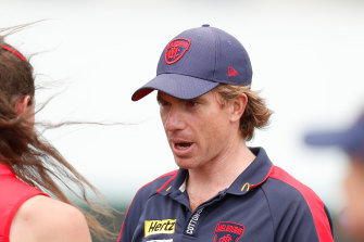 Melbourne coach Mick Stinear missed his side's trip to Perth because his wife was due to give birth.