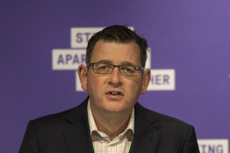 Premier Daniel Andrews has begun easing restrictions for the hospitality industry