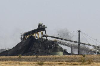 A Whitehaven Coal mine near Narrabri.