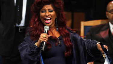 Chaka Khan performs during the tribute.