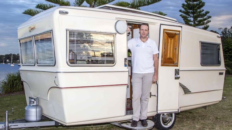 Camplify chief executive Justin Hales has more than 3500 vehicle owners listing caravans through the company's site.