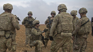 U.S. soldiers in Syria.