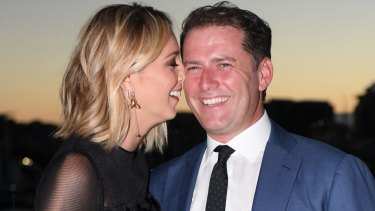 Karl Stefanovic and Jasmine Yarbrough last month.