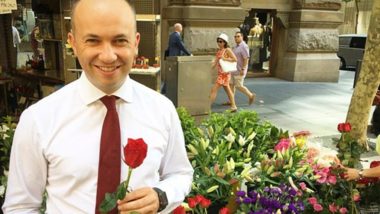 Hornsby MP and Minister for Innovation Matt Kean pictured in a post uploaded to his Instagram page for Valentine's Day 2018.