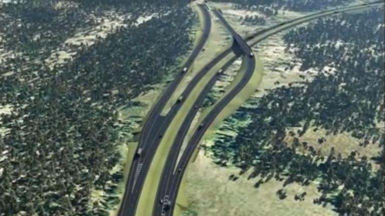 Artist's impression of Toowoomba Range second crossing.