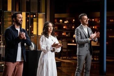 Andy, Melissa and Jock from MasterChef 2021.