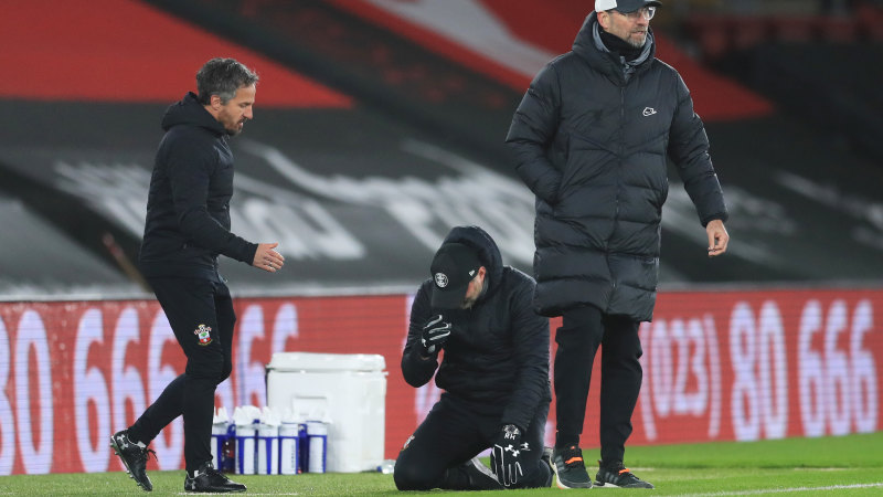 English Premier League 2020/21: Ralph Hasenhuttl cries as Southampton beat  Liverpool