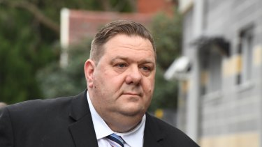 Simon Phillips arrives at Burwood Local Court on, Monday.