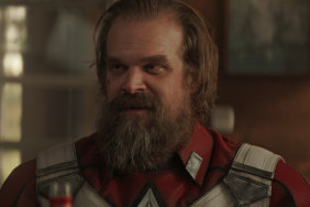 David Harbour as the comically overbearing Alexei in Black Widow.