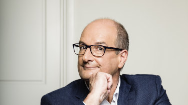 Sunrise presenter David Koch pressed ahead with delivering the good news.