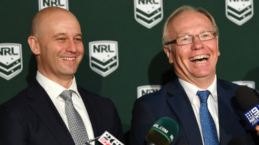 Hollow words: Peter Beattie (right) has a habit of making grand announcements and delivering nothing.