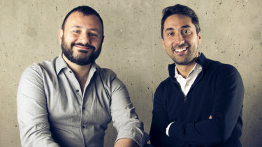 Truelayer UK founders Francesco Simoneschi (R) and Luca Martinetti.