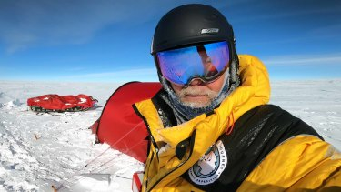 Geoff Wilson has become the first Australian to reach Antarctica's Pole of Inaccessibility.