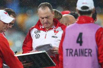 Swans coach John Longmire has fired back at Richmond counterpart Damien Hardwick.