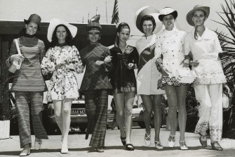 Pants were a popular choice for Fashions on the Field in 1969 but they have been rare on the winner's podium.