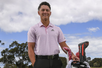 Rising star: Karl Vilips is leading the Internationals team in the Junior Presidents Cup.