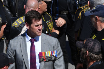 Victoria Cross recipient Ben Roberts-Smith at Remembrance Day commemorations at the Australian War Memorial last year.