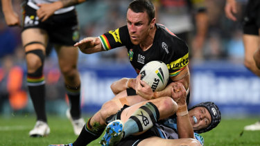On the canvas: James Maloney had a night punctuated by numerous errors.