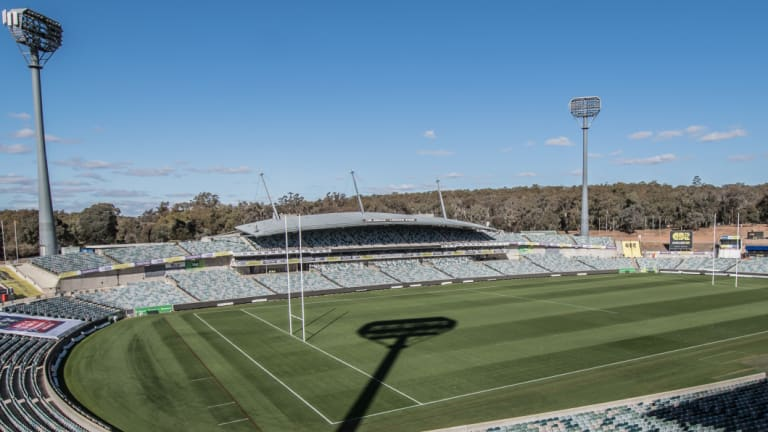 Canberra Stadium is outdated.