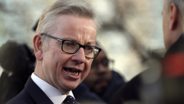 Britain's environment secretary Michael Gove
