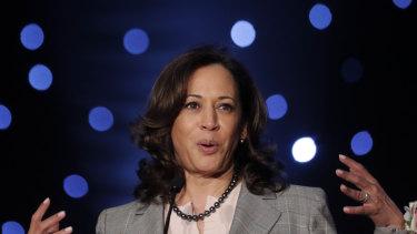 Democratic Presidential hopeful Senator Kamala Harris.