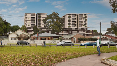 An artist's impression of the Brunswick West housing estate after the redevelopment.