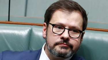 Labor MPs Ed Husic during question time on Thursday.