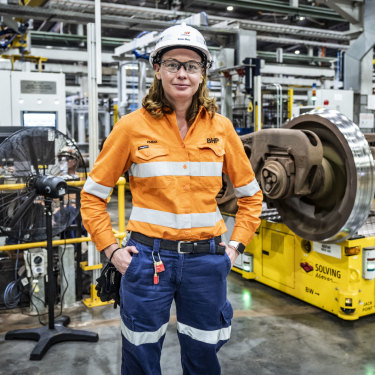 Team leader Emma Grundy at BHP's Mooka facility.
