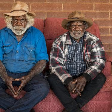 Martu elders Peter Tinker and Colin Peterson.