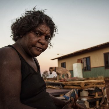 37-year-old Martu woman Monika Lewis wants to stay in Parnpajinya.