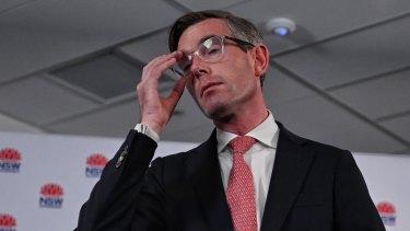 Seeing is believing: NSW Treasurer Dominic Perrottet this week.
