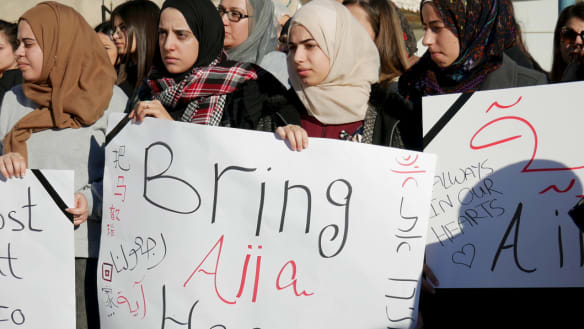 Hundreds gathered in solidarity outside a mosque in Baqa al-Gharbiyye on Saturday, calling to bring Aiia Maasarwe's body back home,