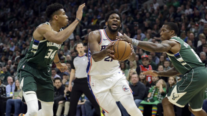76ers down Bucks to clinch NBA play-off spot