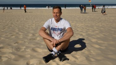 Tom Steinfort, is finding his feet balancing training for next month's City2Surf.