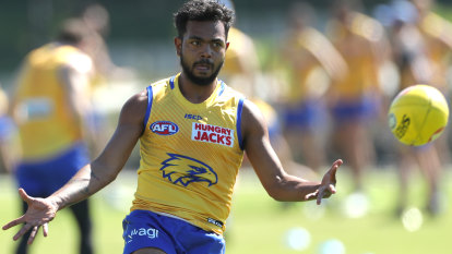 Banned Rioli back in training with West Coast Eagles