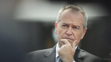 Opposition Leader Bill Shorten in Canberra on Tuesday.
