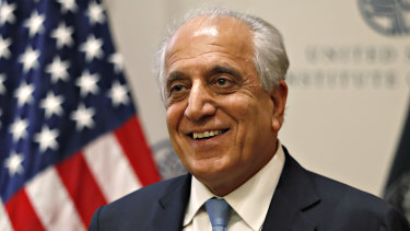 Special Representative for Afghanistan Reconciliation Zalmay Khalilzad at the US Institute of Peace.