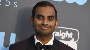 Aziz Ansari arrives at the Critics' Choice Awards in 2018.