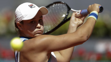 Headline: Australia's Ash Barty was the top seed in Strasbourg.
