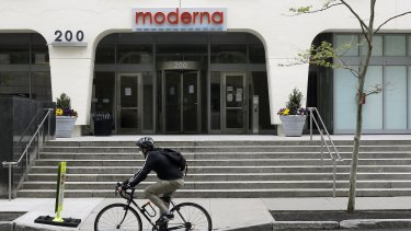 Moderna shares tumbled by more than 10 per cent.