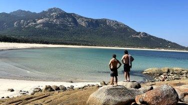 The four friends island-hopped on their way to Tasmania.