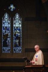 Archbishop Philip Freier celebrates  Christmas mass at St Paul's.