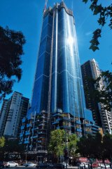 The Australia 108 tower in Southbank is still under construction.