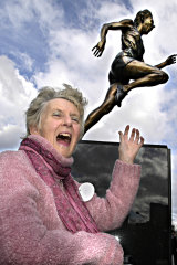 Betty Cuthbert is one of three female athletes immortalised in bronze across Melbourne.