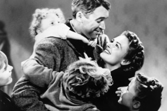 James Stewart and Donna Reed in <i>It's a Wonderful Life</i>.
