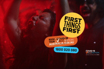 The government's First Things First vaccination advertising campaign.
