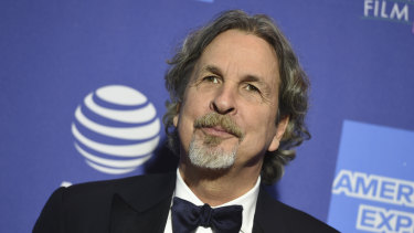 Peter Farrelly poses for a photo at this year's Golden Globes.