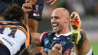 Rebels centre Billy Meakes said his side wouldn't shirk the Bulls' ''big boys'' at AAMI Park tonight.