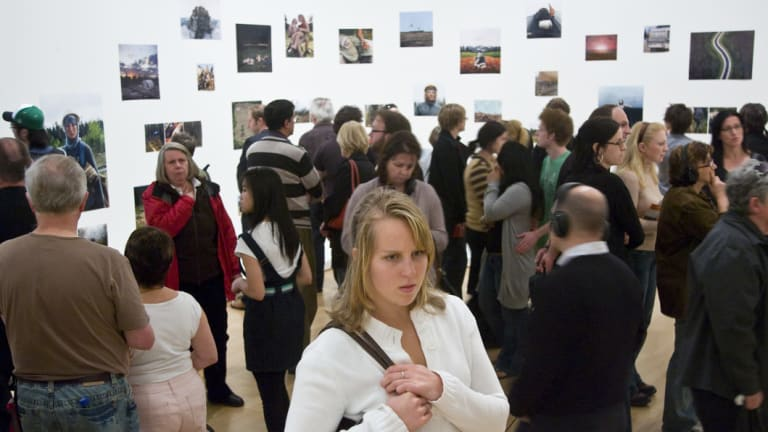 Large crowds in the NGV in 2007.